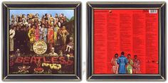 ♫ The Beatles - Sgt. Peppers (1967) Art-direction: Robert Fraser. Trivia on CAA site. http://www.selected4u.net/caa/beatles/sgtpeppers/play.html
