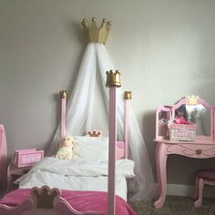 Princess Bed Crown / Valance / Canopy / Cornice for Nursery & Pink Princess Bed Crown Valance / Canopy / Cornice for Girls Room ...