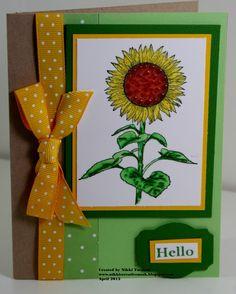 Sunflower #FSJourney #Stamping #Scrapbook Fun Stampers Journey - FSJ
