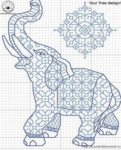 Free Cross Stitch Pattern - Elephant