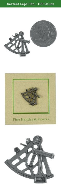 Sextant Lapel Pin - 100 Count. Johannes Hevelius used a sextant with a particularly ingenious alidade to provide stellar position measurements of great accuracy. Handcast in solid, lead-free pewter our sextant lapel pin is an original three dimensional sculpture signed by the artist, Jim Clift. Wear a piece of history with this finely crafted pin made entirely in the US. Individually packaged on one of our signature presentation cards, our lapel pins arrive ready for gift giving!.