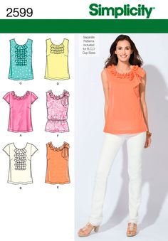 Womens Tops and Shirts Sewing Pattern 2599 Simplicity