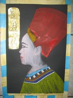 MaryMaking: Egyptian Pharaoh and Queen Self Portraits