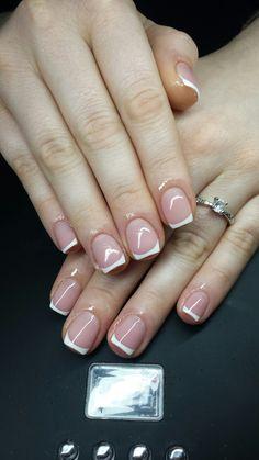 white short  french nails