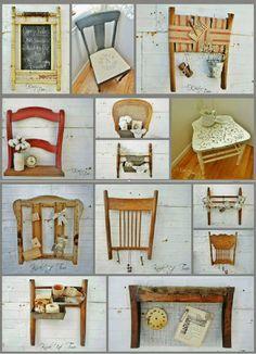 Boas ideias para reaproveitar as cadeiras que estão com defeitos.