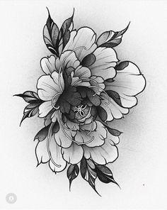 Japanese Peony Tattoo, Japanese Tattoo Meanings, Japanese Lotus, Japanese Tattoo Designs, Japanese Flowers, Mini Tattoos, Rose Tattoos, Flower Tattoos, Black Tattoos