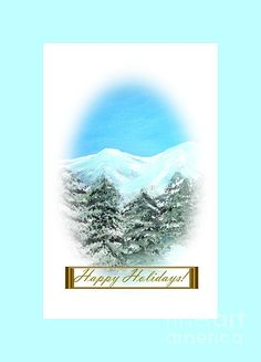 Happy Holiday. NEW greeting card. Holiday collection