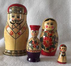USSR Nesting Dolls Set Of 4  | eBay
