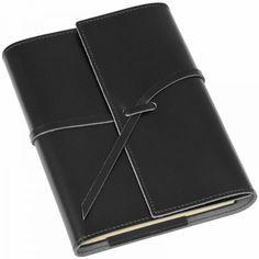 Notizbuch Leder Romano schwarz