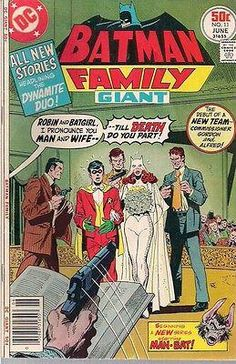 I had This comic when I was a kid - brand new! This pin is inspired by one of our members at FyndIt. She is looking to buy comic book wedding covers and needs help tracking them down. She is willing to pay a bounty reward for every wedding cover matched. If you know where to find some, you could earn a couple of bucks. Log in to see if you can help add to her comic collection. www.fyndit.com #Comics #ComicBooks #Weddings #JustMarried #Batman #Robin #Batgirl