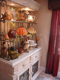 Fall Display Baker S Rack
