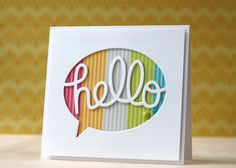 Pump up the Volume with Layered Die Cuts -  By My Favorite Things on 5/30/14 in Guest Designer - Laura Bassen: MFT hello die
