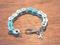 cervical cancer awareness bike chain bracelet
