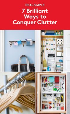 7 Brilliant Ways to Conquer Clutter | Stuck in an organizing rut? You might have gotten so used to the towering piles and scattered odds and ends that you practically don't even see them any more, but that doesn't mean you have to give up and live with the mess. You may just need to take a new tack to come up with some smarter storage systems (that will actually stick).
