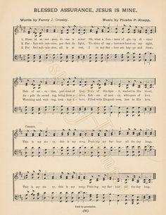 1.99 - Blessed Assurance digital download Jesus Is Mine by GospelHymns