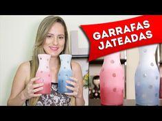 DIY: Garrafas Decoradas com Jateado Colorido no Vidro - Artesanato, Faça Você Mesmo - YouTube