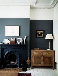 Are Dark Green Walls the New White Walls? (Short Answer: We Think Maybe) - Emily Henderson Are Dark Green Walls the New White Walls? (Short Answer: We Think Maybe) - Emily Henderson House Design, Interior, Home, Dark Green Walls, Half Painted Walls, House Styles, Interior Design, Living Decor, Victorian Living Room