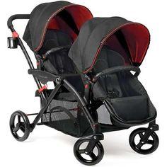 Contours Options Elite Tandem Stroller: The BEST double stroller on the market! This stroller is the easiest and most versatile stroller on the market. You WILL not regret the investment. Double Stroller For Twins, Double Stroller Reviews, Double Baby Strollers, Best Double Stroller, Twin Strollers, Best Baby Strollers, Cheap Strollers, Tandem, Best Lightweight Stroller