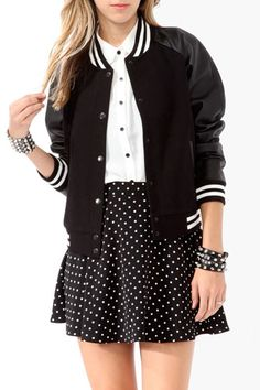 Perfect for fall: A+ varsity jackets