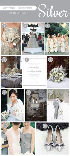 Silver Wedding Inspiration by Delphine