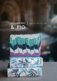 Cranberry&Fig | soap collection. Soon on bymiobi.etsy.com