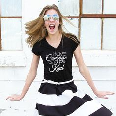 Have courage and be kind graphic tee. Magic and style wrapped up into 1 great tshirt! Don't miss snagging your size before they are gone!