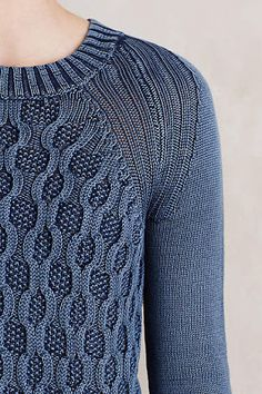 simple sweater with pretty details makes it interesting #anthrofave