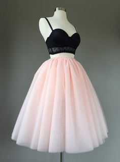 Tulle skirt adult tutu two toned 8 layer blush tutu by shopVmarie Long Tutu Skirt, Blush Tulle Skirt, Tulle Mini Skirt, Black Tutu Skirt, Tulle Skirts, Tulle Tutu, Long Skirts, Pink Tulle, Pretty Dresses