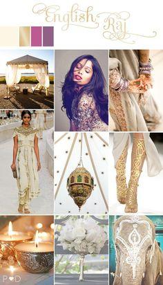 English Raj Indian bride inspiration board on www.lovemydress.net  http://www.lovemydress.net/blog/2012/07/indian-wedding-inspiration-board.html