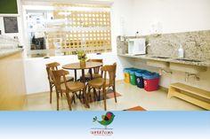 Espaço da Culinária: Onde os pais podem saborear uma bela refeição enquanto espera seus filhos durante as oficinas.