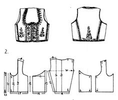 Folk Embroidery Tutorial FolkCostumeEmbroidery: Costume of central Serbia, or Šumadija, Шумадија Costume Patterns, Doll Clothes Patterns, Clothing Patterns, Dress Patterns, Sewing Patterns, Folk Embroidery, Embroidery Patterns, Beginner Embroidery, Ethno Style