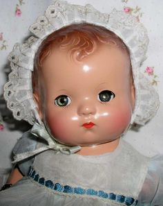 1940's Effanbee PATSY BABYkin TODDLER Doll -- Brown Molded Hair -