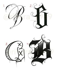 "2,335 Me gusta, 25 comentarios - Luis Rivera (@rivera_1989) en Instagram: ""4 different versions of the letter ""B"" which one is your favorite?🤔✍🏽 #practice #fundamentals…"" Graffiti Letter N, Graffiti Lettering Alphabet, Calligraphy Letters Alphabet, Tattoo Fonts Alphabet, Graffiti Images, Letter Art, Chicano Tattoos Lettering, Tattoo Lettering Design, Creative Lettering"