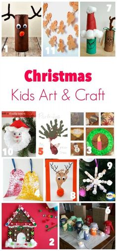 Great Ideas for Christmas Art and Craft for Kids. Lots of diy gift ideas for grandparents, teachers, etc. Easy project for you to do with the kids!