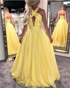 Elegant A Line Prom Dresses, Open Back Long