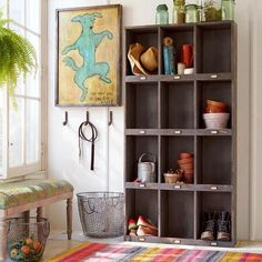 MARKET STREET CABINET - Store books, hats, crafts, sports equipment, blankets, treasures and more in our sturdy, gray-washed pine cabinet. T