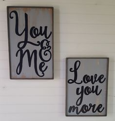 Rustic gray You & Me sign, 9.5W X 15H, Anniversary, Valentines Day, Country decor, Wedding decor by OurLittleCountryShop on Etsy