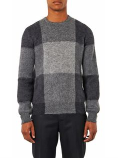 Alexander McQueen Checked mohair and wool-blend sweater