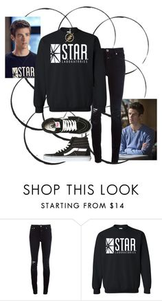 """Barry Allen (Girl Outfit)"" by xxonyx-lightwaterxx ❤ liked on Polyvore featuring Closed and Vans"
