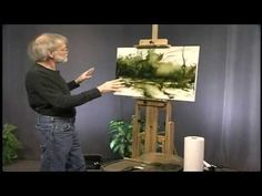 ▶ Oil painting Demonstration with Dennis Sheehan - YouTube - amazing how he does this!