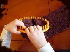 Demostracion  tejido tubular en telar  maya o azteca redondo  mangas y espalda