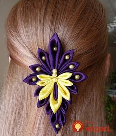 long instead of wide Satin Ribbon Flowers, Cloth Flowers, Ribbon Art, Ribbon Crafts, Fabric Ribbon, Ribbon Bows, Fabric Flowers, Ribbons, Kanzashi Tutorial