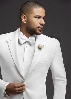 68f58f2f4a9 2018 New Spring Style White Peak Lapel Tuxedos Bespoke Men Suits Groomsman  One Button Suit Jacket Blazers Sets(Jacket+Pants+Tie). Porter · Weddings