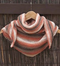 Chal tejido a punto bobo o punto santa clara Crochet Shawl, Knit Crochet, Crochet Blocks, Baby Knitting, Ravelry, Needlework, Santa Clara, Accessories, Outfits