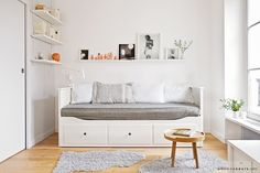 $597 HEMNES Daybed with 3 drawers/2 mattresses IKEA Four functions - sofa, single bed, double bed and storage solution.