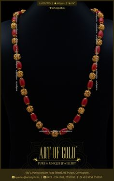 Gold Chain Design, Gold Bangles Design, Gold Jewellery Design, Indian Gold Jewellery, Gold Necklace Simple, Gold Jewelry Simple, Coral Jewelry, Ruby Jewelry, Pearl Necklace Designs