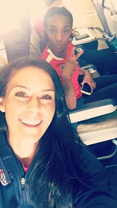 Ali Krieger and Crystal Dunn