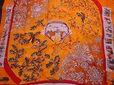 "Hermes scarf CARRE cashmere/silk shawl GM ""Neige d'Antan"" orange"