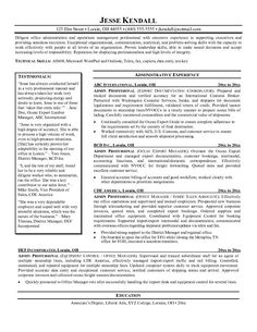 Resume Examples Young Professionals