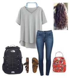 """Untitled #64"" by faithjones1223 on Polyvore featuring Cosabella, Theory, Birkenstock, The North Face and Vera Bradley"